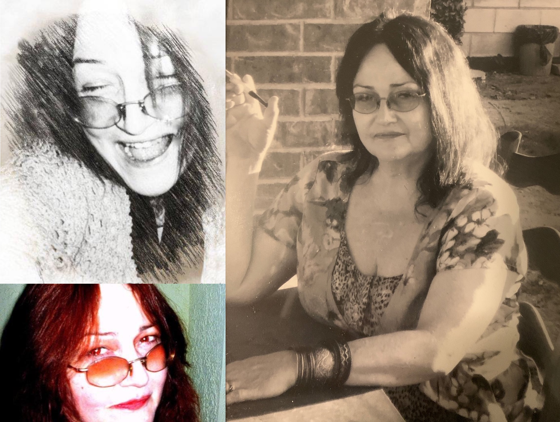 Collage of photos of Kathy Bruce